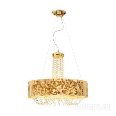 5020.30630.130/li30 24 Carat Gold, Ø60cm, Height 60cm, Min. height 80cm, Max. height 160cm, 6 lights, G9