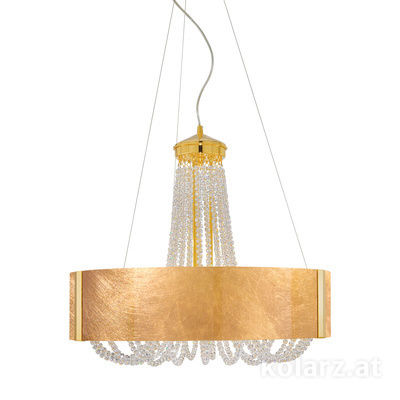 5020.30630.530/0030 24 Carat Gold, Ø60cm, Height 60cm, Min. height 80cm, Max. height 160cm, 6 lights, G9