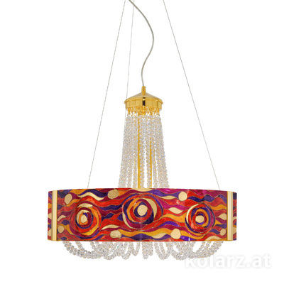 5020.30630.530/aq40 24 Carat Gold, Ø60cm, Height 60cm, Min. height 80cm, Max. height 160cm, 6 lights, G9