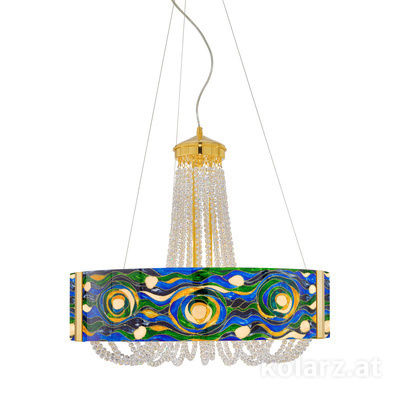 5020.30630.530/aq70 24 Carat Gold, Ø60cm, Height 60cm, Min. height 80cm, Max. height 160cm, 6 lights, G9