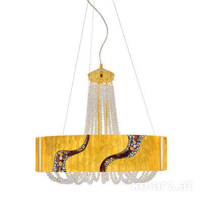 5020.30630.530/ki30 24 Carat Gold, Ø60cm, Height 60cm, Min. height 80cm, Max. height 160cm, 6 lights, G9