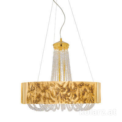 5020.30630.530/li30 24 Carat Gold, Ø60cm, Height 60cm, Min. height 80cm, Max. height 160cm, 6 lights, G9