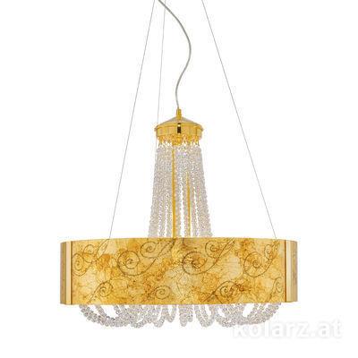 5020.30630.530/me30 24 Carat Gold, Ø60cm, Height 60cm, Min. height 80cm, Max. height 160cm, 6 lights, G9