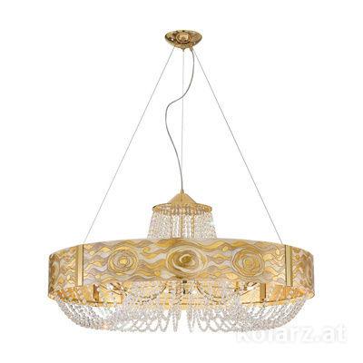 5020.31232.130/aq21 24 Carat Gold, Ø80cm, Height 65cm, Min. height 95cm, Max. height 170cm, 12 lights, G9
