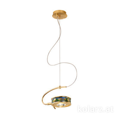5030.30130.000/aq70 24 Carat Gold, Ø24cm, Height 20cm, Max. height 190cm, 1 light, G9