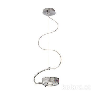 5030.30150.000/ki50 Chrome, Ø24cm, Height 20cm, Max. height 190cm, 1 light, G9