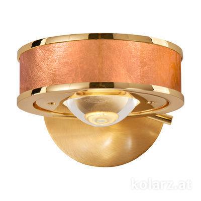 5030.60130.000/0043 24 Carat Gold, Copper, Width 14cm, Height 10cm, 1 light, G9