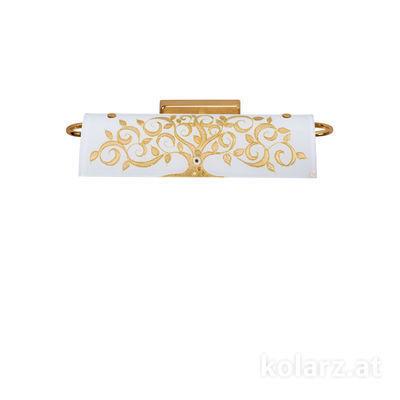 5040.60130.000/al30 24 Carat Gold, Width 30cm, Height 7cm, 2 lights, G9