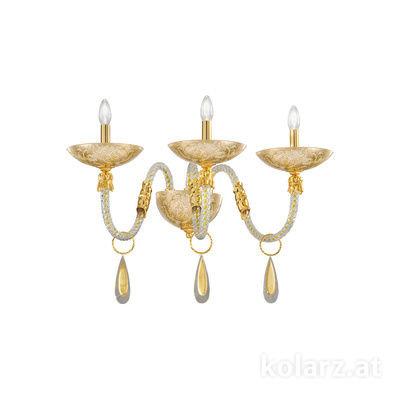 5050.60330.943/tc10 24 Carat Gold, Width 65cm, Height 30cm, 3 lights, E14
