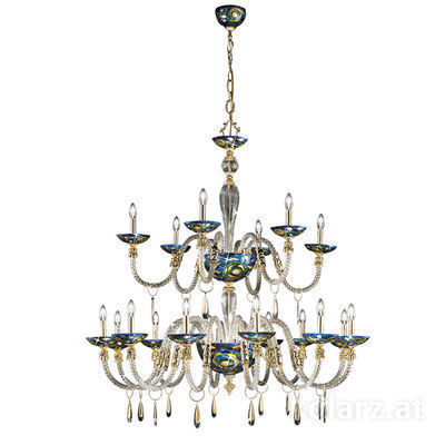 5050.81830.943/aq70 24 Carat Gold, Ø140cm, Height 145cm, Min. height 170cm, Max. height 210cm, 18 lights, E14