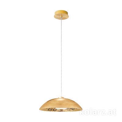 5082.30132.000/al99 24 Carat Gold, Ø45cm, Height 20cm, Min. height 30cm, Max. height 150cm, 1 light, E27