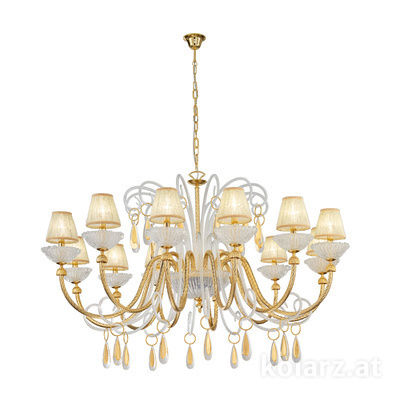 5100.81230 24 Carat Gold, Ø140cm, Height 75cm, Min. height 100cm, Max. height 170cm, 12 lights, E14