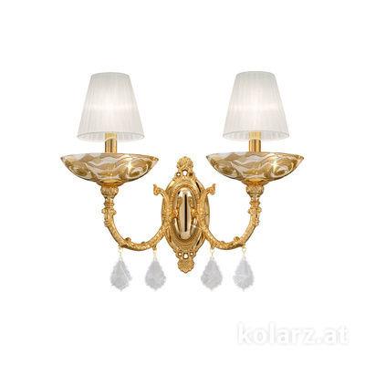 5130.60230.000/aq21 24 Carat Gold, Width 50cm, Height 32cm, 2 lights, E14