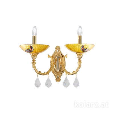 5130.60230.000/ki30 24 Carat Gold, Width 50cm, Height 32cm, 2 lights, E14