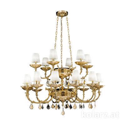 5130.81830.000/aq21 24 Carat Gold, Ø145cm, Height 220cm, 12+6 lights, E14