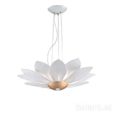 5231.80630 Gold Leaf, Ø82cm, Height 250cm, 7 lights, E27+GU10