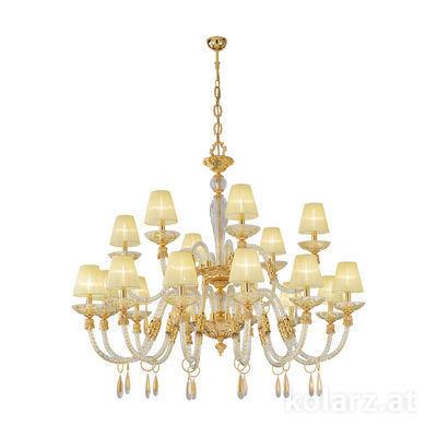 5250.81830.943/tc30 24 Carat Gold, Ø140cm, Height 145cm, Min. height 170cm, Max. height 210cm, 18 lights, E14