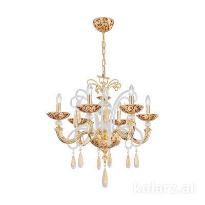 5270.80632.943/tc40 24 Karat Gold, Ø60cm, Höhe 50cm, Min. Höhe 70cm, Max. Höhe 100cm, 6-flammig, E14