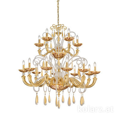 5270.81532.943/tc40 24 Carat Gold, Ø110cm, Height 160cm, Min. height 180cm, Max. height 210cm, 15 lights, E14