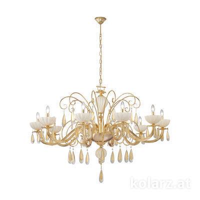 5280.81030.943/mr10 24 Carat Gold, Ø92cm, Height 50cm, Min. height 75cm, Max. height 100cm, 10 lights, E14