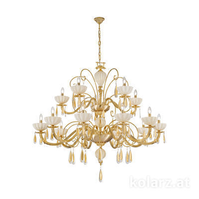 5280.81530.943/mr10 24 Carat Gold, Ø135cm, Height 110cm, Min. height 135cm, Max. height 160cm, 15 lights, E14