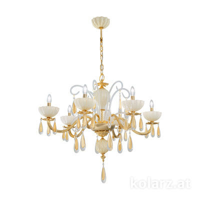5286.80632.943/mr10 24 Carat Gold, Ø92cm, Height 50cm, Min. height 75cm, Max. height 100cm, 6 lights, E14