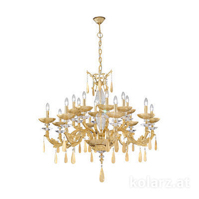 5290.81630.943/tc10 24 Karat Gold, Ø90cm, Höhe 90cm, Min. Höhe 110cm, Max. Höhe 140cm, 16-flammig, E14