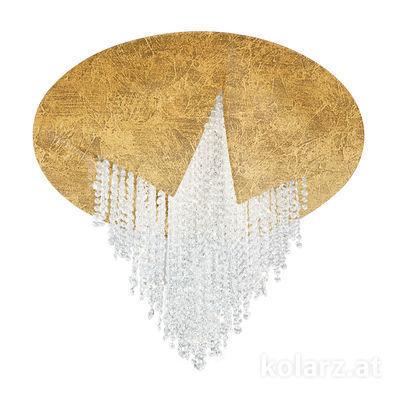 5313.10153.940 Gold Leaf, Ø55cm, Height 43cm, 1 light, LED dimmable
