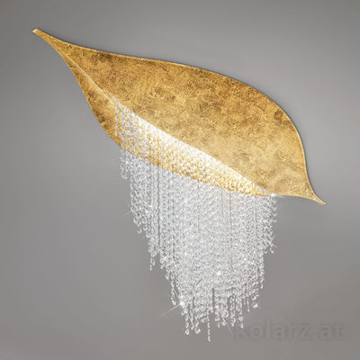 5313.10350.940 Gold Leaf, Length 120cm, Width 40cm, Height 52cm, 3 lights, LED dimmable