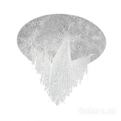 5315.10153.940 Silver Leaf, Ø55cm, Height 43cm, 1 light, LED dimmable