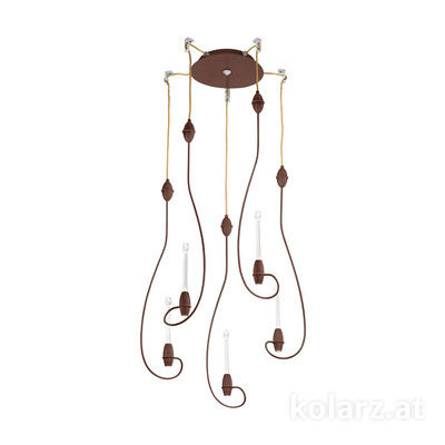 5330.31090.910 Corten, Ø28cm, Height 77cm, Min. height 80cm, Max. height 320cm, 10 lights, LED