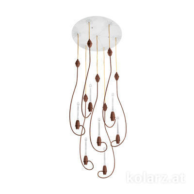 5330.31490.910 Corten, Ø50cm, Height 77cm, Min. height 80cm, Max. height 320cm, 14 lights, LED