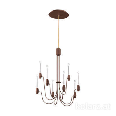 5330.81690.910 Corten, Ø60cm, Height 75cm, Min. height 80cm, Max. height 225cm, 16 lights, LED