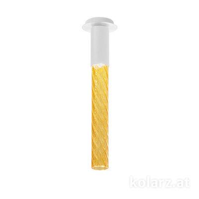 5340.10180.A White Matt, MOBILE MURANO amber, Width 13cm, Max. height 34cm, 1 light, LED dimmable