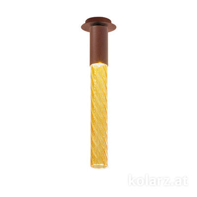 5340.10190.A Corten, MOBILE MURANO amber, Width 13cm, Max. height 34cm, 1 light, LED dimmable