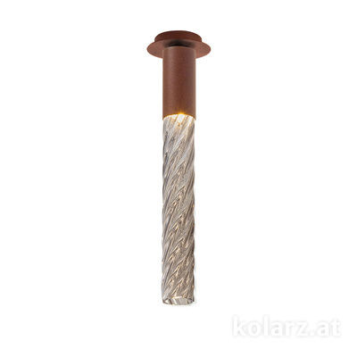 5340.10190.Fm Corten, MOBILE MURANO fumée, Breite 13cm, Max. Höhe 34cm, 1-flammig, LED dimmbar