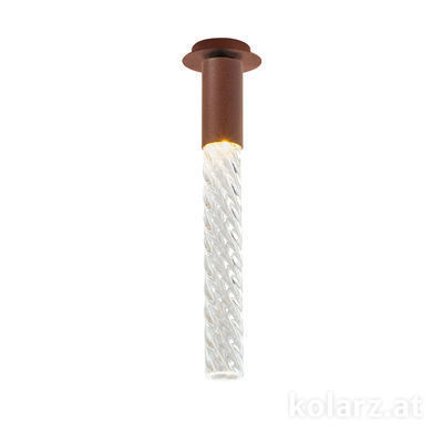 5340.10190.T Corten, MOBILE MURANO crystal, Width 13cm, Max. height 34cm, 1 light, LED dimmable