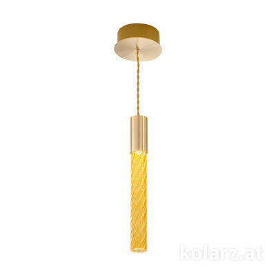 5340.30130.A 24 Carat Gold, MOBILE MURANO amber, Width 13cm, Min. height 33cm, Max. height 170cm, 1 light, LED dimmable