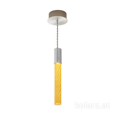 5340.30150.A Chrome, MOBILE MURANO amber, Width 13cm, Min. height 33cm, Max. height 170cm, 1 light, LED dimmable