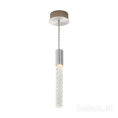 5340.30150.T Chrome, MOBILE MURANO crystal, Width 13cm, Min. height 33cm, Max. height 170cm, 1 light, LED dimmable