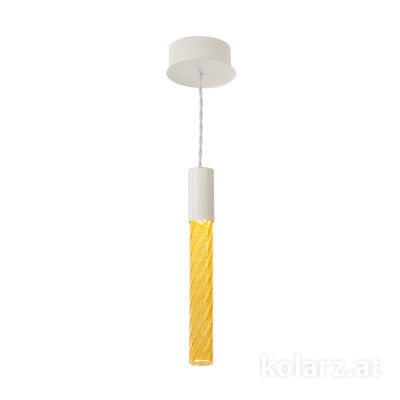 5340.30180.A White Matt, MOBILE MURANO amber, Width 13cm, Min. height 33cm, Max. height 170cm, 1 light, LED dimmable