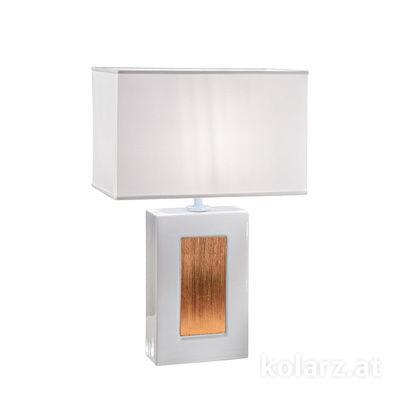 5360.70180/SunCu Weiß, Länge 33cm, Breite 20cm, Höhe 52cm, 1-flammig, E27