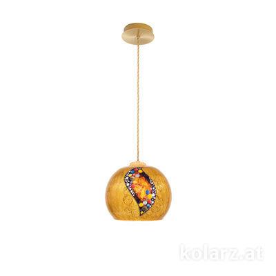 5500.30130.V001 24 Carat Gold, Ø20cm, Height 16cm, Max. height 270cm, 1 light, E27