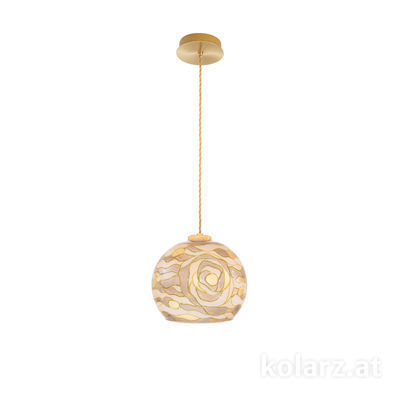 5500.30130.V005 24 Carat Gold, Ø20cm, Height 16cm, Max. height 270cm, 1 light, E27