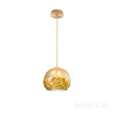 5500.30130.V014 24 Carat Gold, Ø20cm, Height 16cm, Max. height 270cm, 1 light, E27