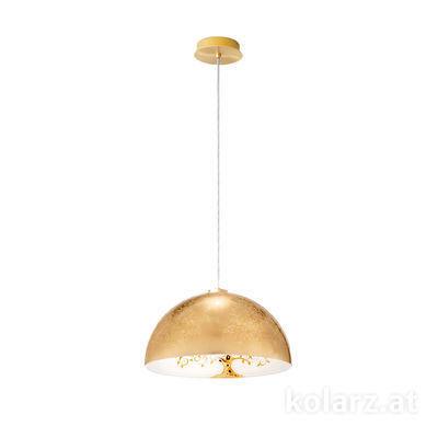 5600.30133.000/al30 24 Carat Gold, Ø40cm, Max. height 150cm, 1 light, E27