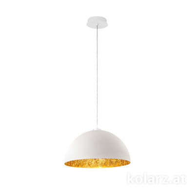 5600.30183.000/li13 White Matt, Ø40cm, Max. height 150cm, 1 light, E27