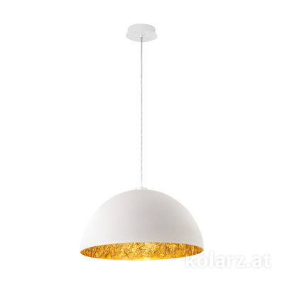 5600.30184.000/li13 White Matt, Ø50cm, Max. height 150cm, 1 light, E27