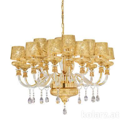 5730.8001/15.940/tc1 24 Carat Gold, Ø95cm, Height 60cm, 15 lights, E14