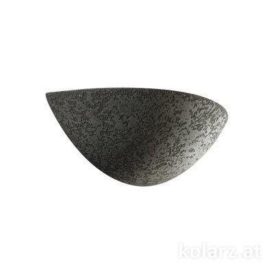 588.60.Gr Grey, Width 35cm, Height 10cm, 1 light, E27